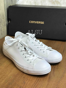 Sneakers-Men-039-s-Converse-Chuck-Taylor-All-Star-Leather-White-White-Low-Top