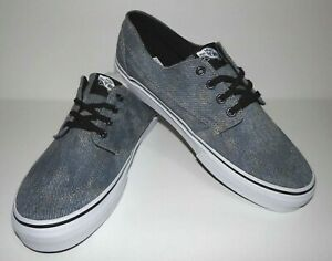 3cc95b37ba New Vans Mens Brigata Acid Denim Canvas Athletic Shoes Size US 9 EU ...