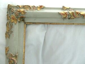 BIG-ANTIQUE-FIT-25X-29-GOLD-GILT-PAINT-FRENCH-PICTURE-FRAME-ORNATE-WOOD-FINE-ART