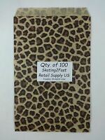 Qty. 100 Leopard Print Design Paper Merchandise 6 X 9 Bag Retail Shopping