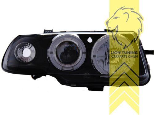 LED Angel Eyes Scheinwerfer für Opel Astra F schwarz