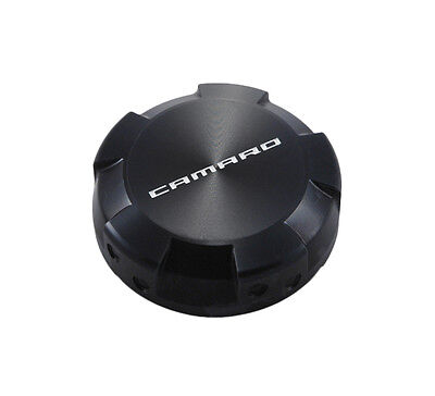 2010-2013 Chevy Camaro Black Billet Radiator Tank Cap Cover with Faux Rivets