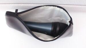 2 Noir Microphone Du Boîtier Pour Shure & Sennheiser Microphones Sac Portefeuille Neuf-afficher Le Titre D'origine