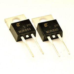 25PCS-Diode-MUR860-8A-600V-TO-220-2PIN