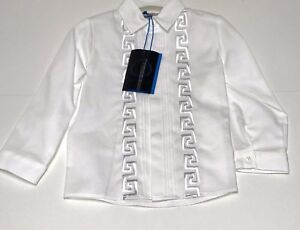 f18c156cea28 Young Versace New Boys Baby WHITE TUXEDO FORMAL SHIRT Sz 12M RTL ...