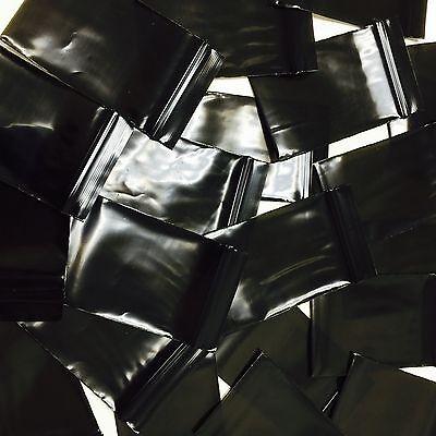 """Baggies 1""""X1 ~ 4""""X4"""" Ziplock Baggies Zip Lock OPAQUE BLACK Bags 20 SIZE Choose"""