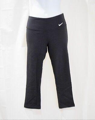 NIke Girls Dri-Fit Legend Regular Fit Black Training Capri Pants NWT See Sizes