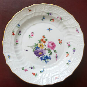 Assiette Profonde Antique Porcelaine de Meissen