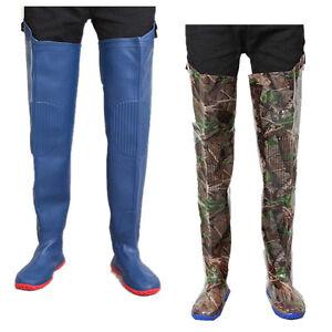 29078009655 Men s Over Knee Rain Boots Waterproof Fishing Slip Resistant Camo ...