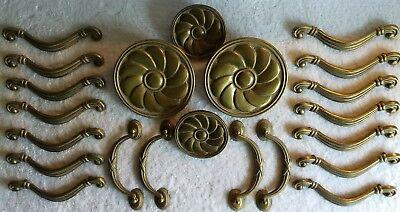 Heavy Solid Brass Handles//Pulls Antique Furniture Hardware Vintage DIY