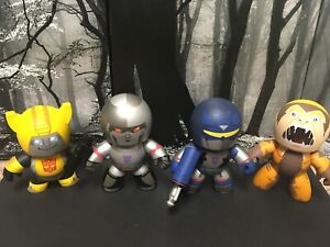Mighty Muggs Lot of 4 Soundwave Bumblebee Megatron Sabertooth With Accessories