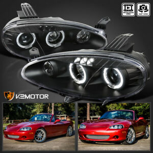 Image Is Loading 2001 2005 Mazda Miata Mx5 Black Halo Projector