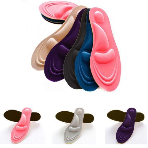 4D Sponge Pain Relief Insoles Arch Support Women//Men Cut Shoe Pad Soft Foot Care
