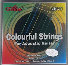 farbige Saiten, Gitarrensaiten für Westerngitarre 407C