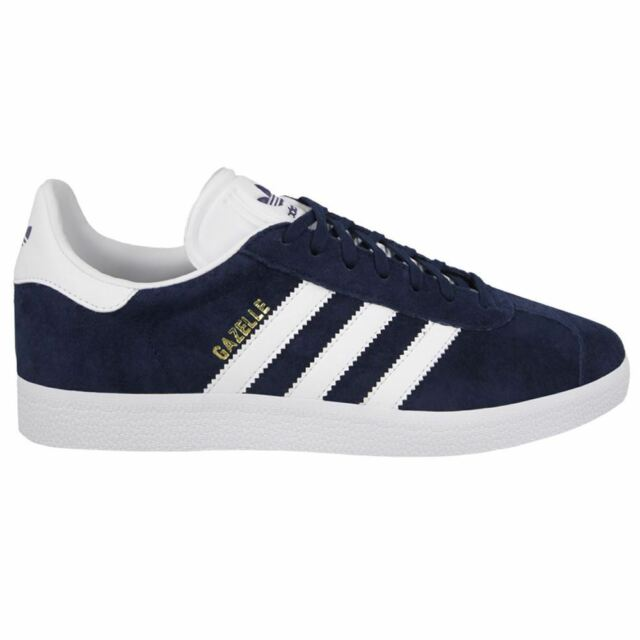 quality design 02264 f8d93 Adidas Gazelle Navy White Mens Trainers