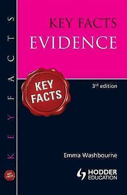 1 of 1 - Evidence (Key Facts), Acceptable, Washbourne, Emma, Book