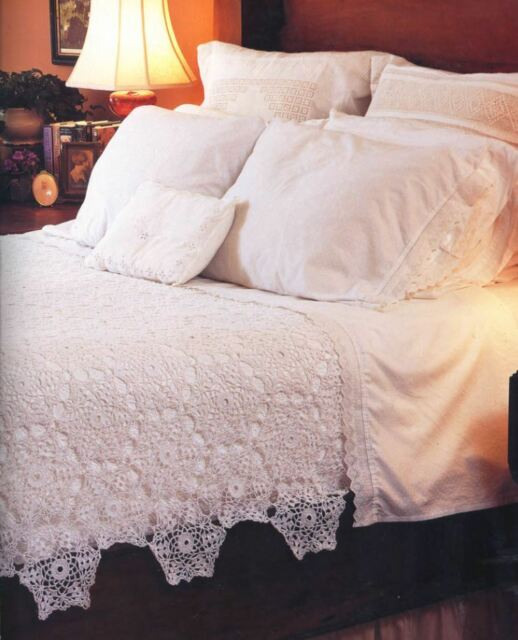 Stunning Snowflake Lace Bedspread Coverlet Afghan Blanket Throw Crochet Pattern