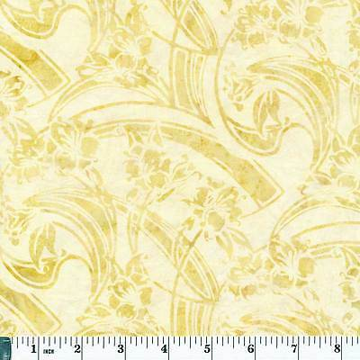 Hoffman Bali Chop Batik L2608-A25 Art Deco Floral Antique Priced per ½ yd