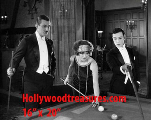 Buster Keaton~Silent Film~Shooting Pool~Hall~Billiards~Poster~16 x 20 Photo