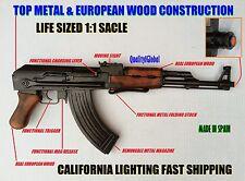 REAL EURO WOOD METAL REPLICA AK-47 FOLDING STOCK NON-FIRING MOVIE PROP GUN EKOL