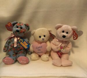 "Ty Beanie Babies ""Dear - Motherly & My Mom"" lot of 3 New"