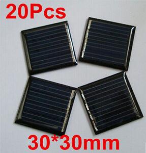 20x 0 09w 2v 45mah 30x30mm Mini Power Solar Panel Cell