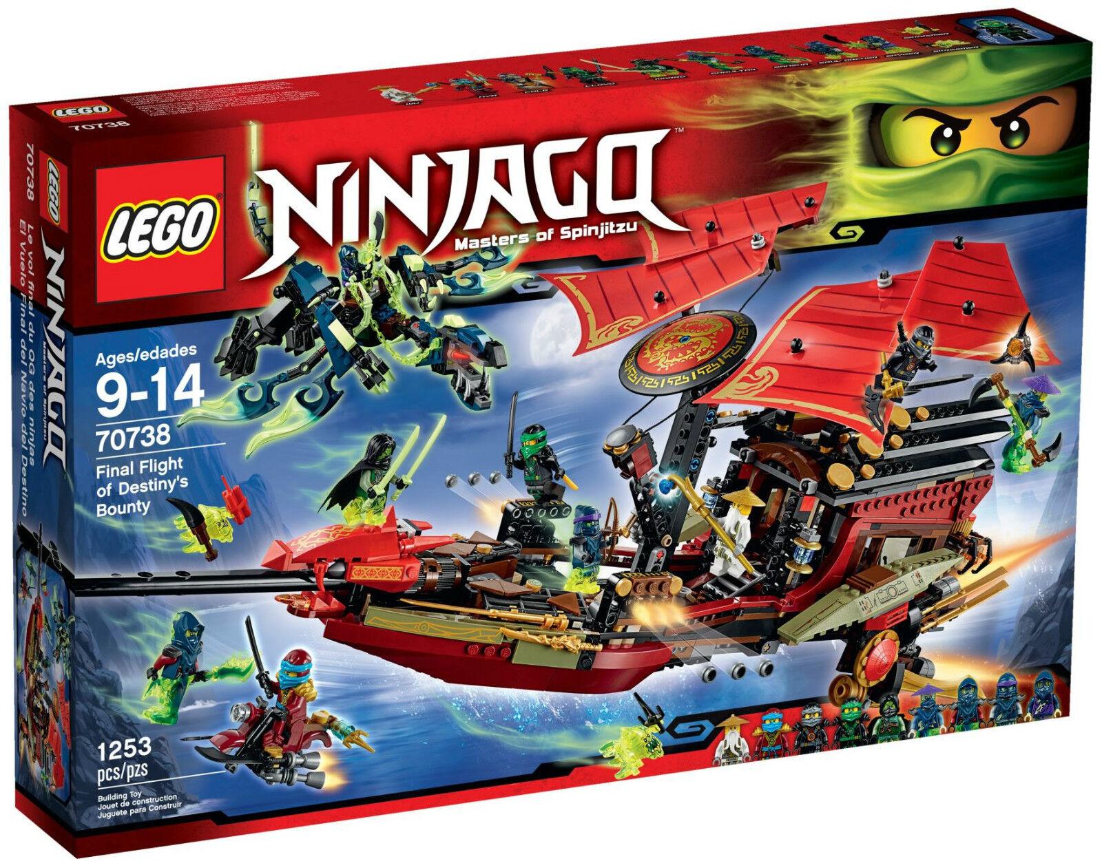 LEGO Ninjago  Final Flumière of Destiny's Bounty  70738 - BNIB - 2015 Release  qualité pas cher et top