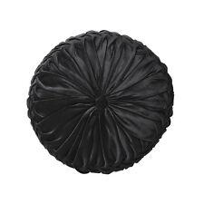 LOGAN AND MASON TEMPO Vintage Glamour Velvet BLACK Square Filled Cushion NEW