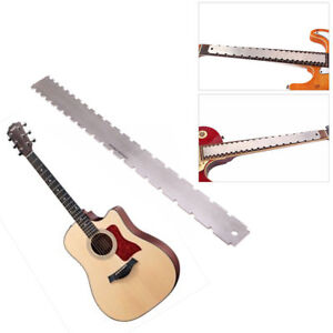 Guitar Fingerboard Ruler Silver Stainless Steel Guitar Neck Notched Straight Edge Luthiers Tool Guitar Accessories 420*37*3.5mm Stringed Instruments