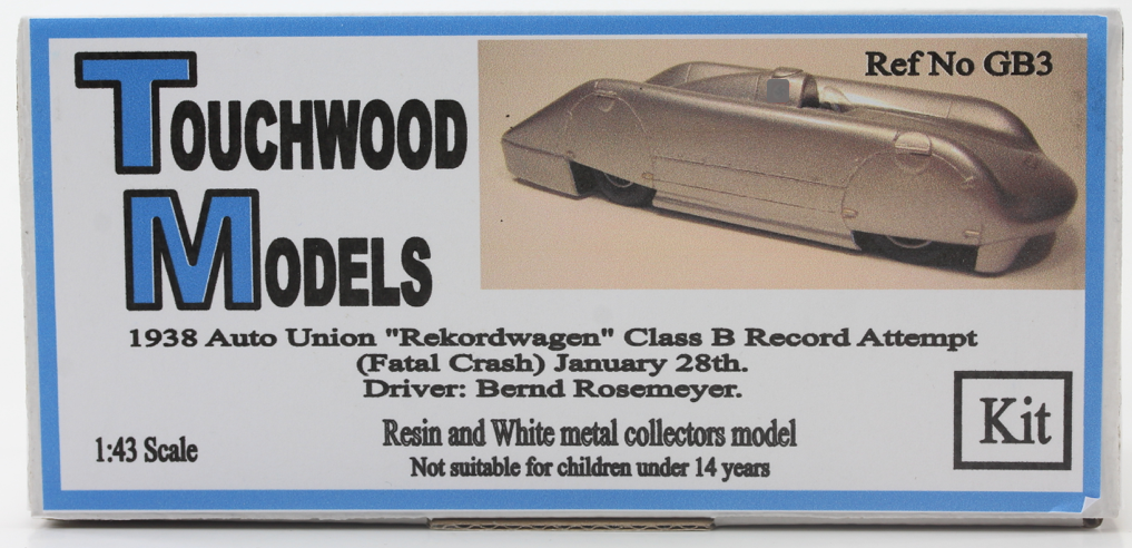Car Union Rekordwagen 1938 Bausatz kit 1 43 Touchwood GB3
