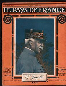 """WWI Portrait Général Marie Émile Fayolle Maréchal de France 1916 ILLUSTRATION - France - Commentaires du vendeur : """"OCCASION ATTENTION,QUE LA COUVERTURE, PAS LE JOURNAL ENTIER. Just the cover, not newspaper."""" - France"""