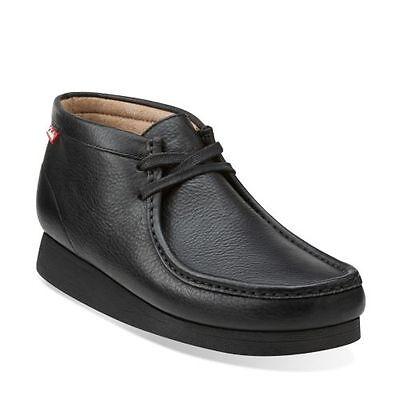 Clarks Stinson HI 26063362 Mens Black Leather Lace Up Chukkas Boots