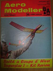 Brillant Aero Modeller Magazine Janvier 1977 Coupé D'avaler Des Plans-afficher Le Titre D'origine