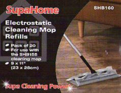 40 MOP RICARICHE LAMINATO Wood Floor DUSTER Clean ANTISTATICI Electrostatic 2 confezioni