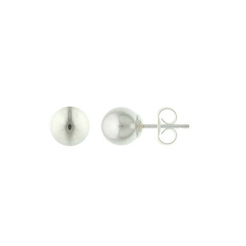 Yellow Gold Ball Stud Earrings Top Quality ! Guaranteed 14K Solid White Gold