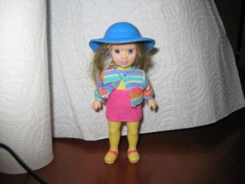 Madame Alexander 2003 McDonalds Hannah Pepper Girl Coat Blue Hat Pink Skirt Doll