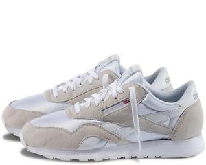 35cc706c684 Image is loading Reebok-Classic-Nylon-White-Light-Grey-New-In-