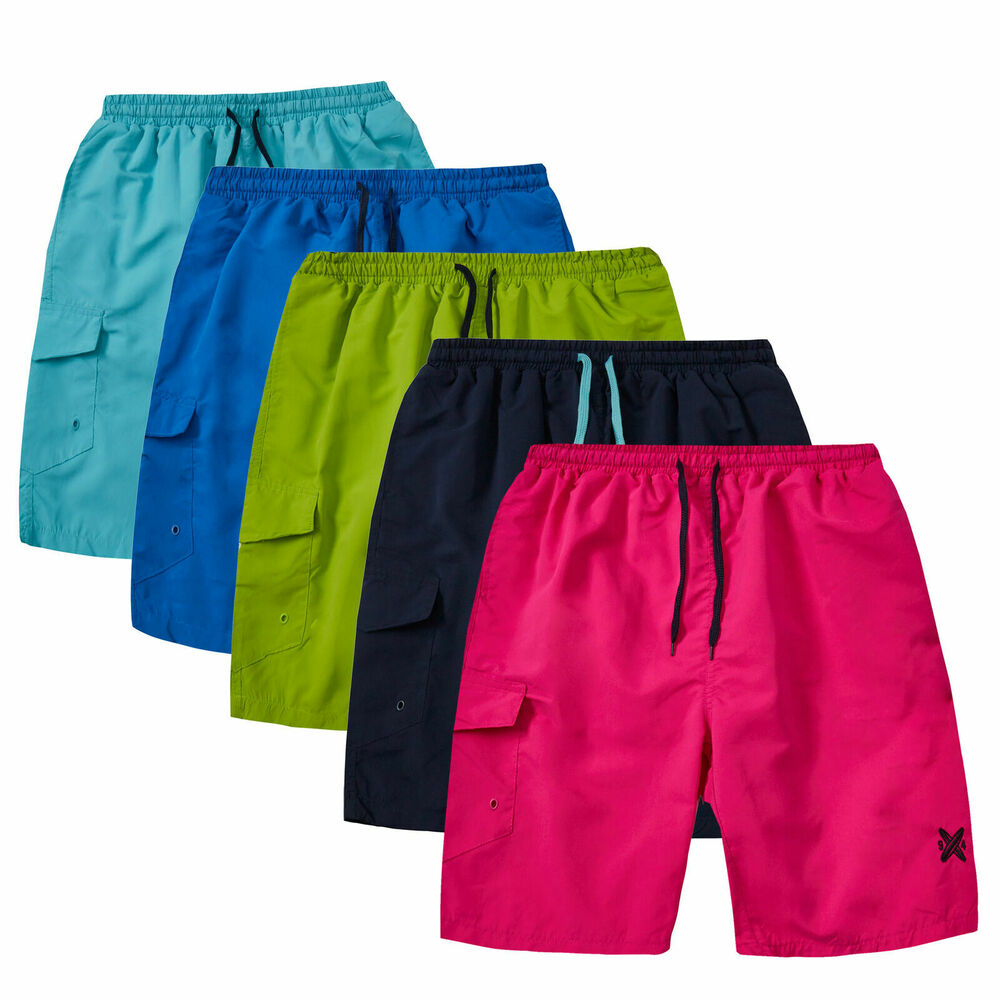 Hommes 3 Pack Quick Dry Swim Porter Shorts Trunks Poches Planche De Surf Taille Plus