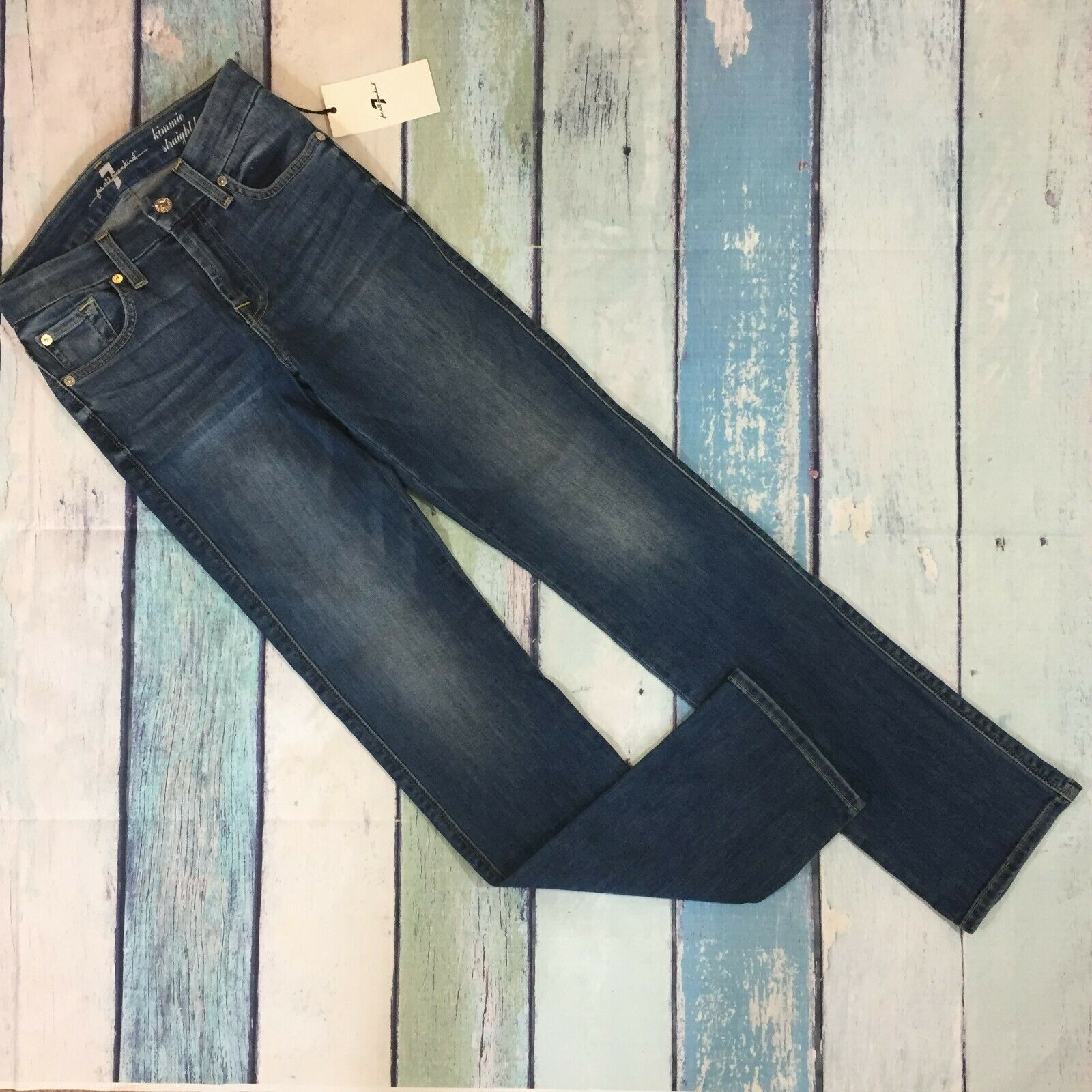 NWT 7 for all Mankind Kimmie Straight Leg Jeans 24