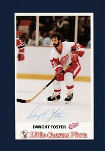 the latest 111ee b75f1 Details about Dwight Foster signed Detroit Red Wings team issued hockey  postcard