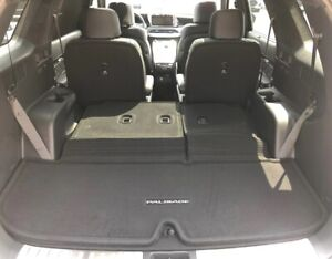 Details About 2020 Hyundai Palisade Carpeted Cargo Mat With Seat Back Protection