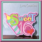 SWEET 16 Title Paper Piecing card making and scrapbooking