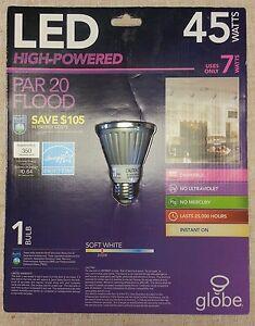 LED LIGHTBULB 45-WATT LED MAX 7-WATT HIGH POWERED PAR20 FLOOD LIGHT DIM 8114001