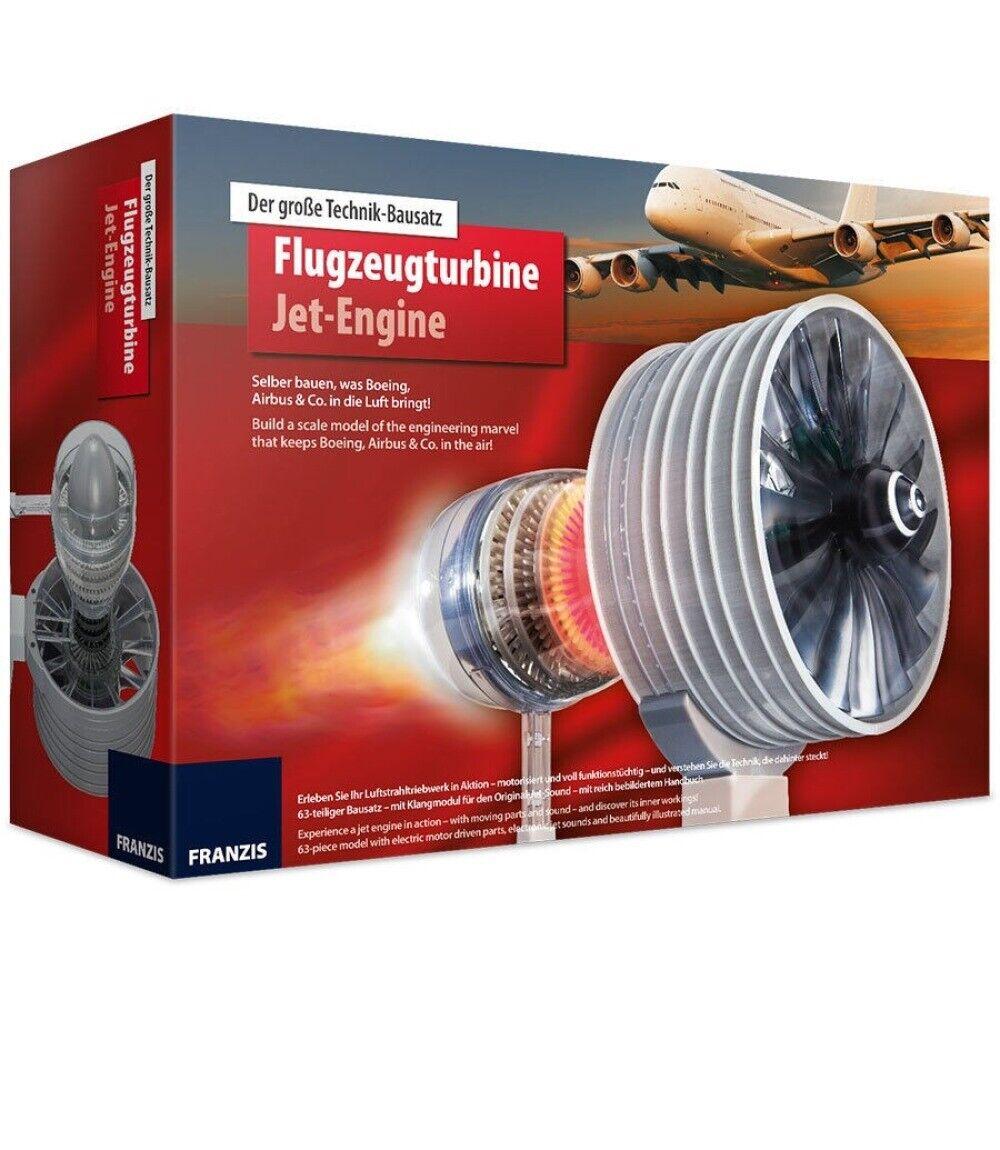 Franzis Boeing Airbus Big Engineering Kit Aircraft Turbine Jet Engine 504183 New