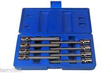 """BERGEN 8pc 110mm Long 3/8"""" Dr T/PROOF Star Bit Torx Socket Tool Set T25-T60 1173"""