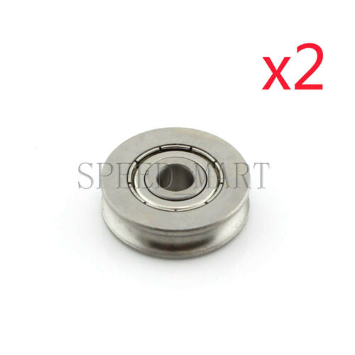 2pc 6x25x7mm 626ZZ U Groove Guide pulley 440c Stainless Steel Metal Ball Bearing