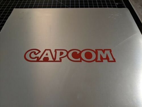 """2 pack Capcom single color decal Gloss Red 7.5/"""" x 1.5/"""" inches 19cm x 3.5cm"""