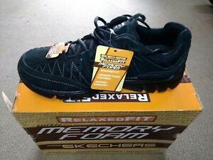Dettagli su Scarpe sportive uomo Marca Skechers Memory Foam Nero N.42