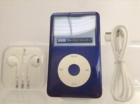 Apple iPod Classic 7th Generation White/Blue (was Silver) (160GB) - Customised