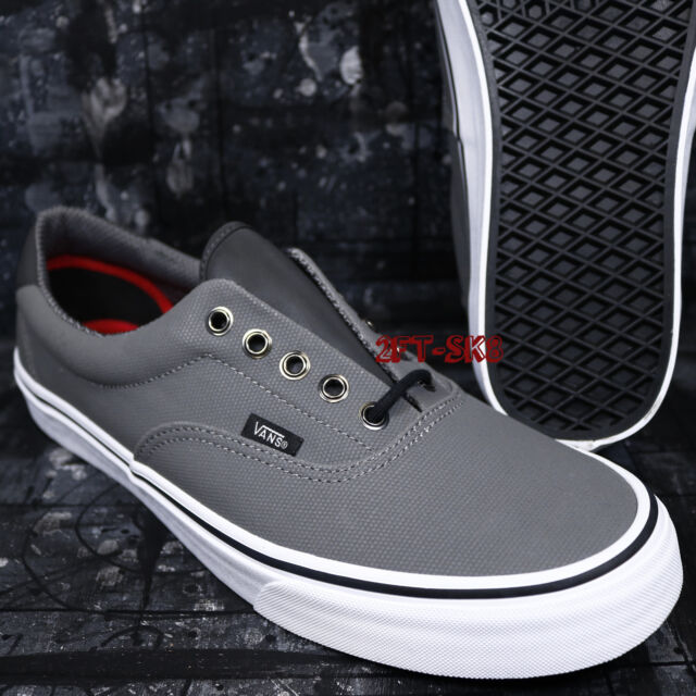 274a84ce2f VANS Era 59 Mens Reflective Pewter Gray Canvas Skate Boat Shoes Size ...